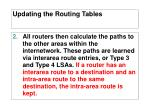 updating the routing tables1