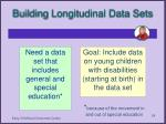 building longitudinal data sets