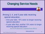 changing service needs1