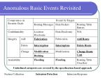 anomalous basic events revisited