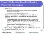 feature collection based on routing protocol specification