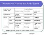 taxonomy of anomalous basic events