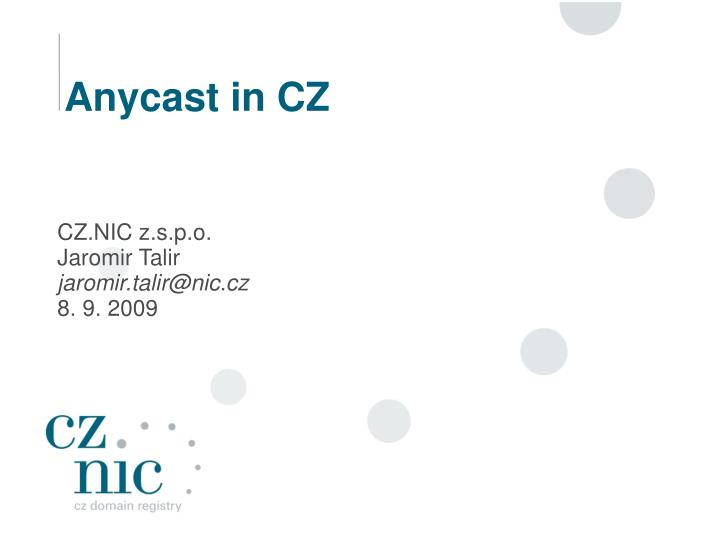 anycast in cz n.