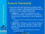 account ownership