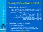 banking preventing overdrafts