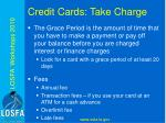 credit cards take charge