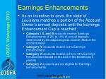 earnings enhancements