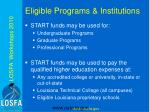 eligible programs institutions
