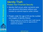 identity theft protect your financial security