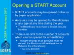 opening a start account