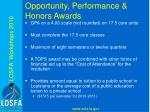 opportunity performance honors awards