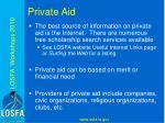 private aid
