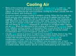 cooling air