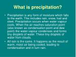 what is precipitation