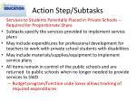 action step subtasks5