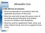 allowable cost