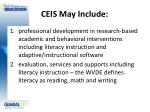 ceis may include