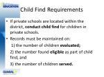 child find requirements