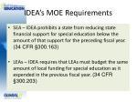 idea s moe requirements