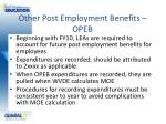 other post employment benefits opeb