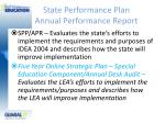 state performance plan annual performance report