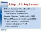 u s dept of ed requirements