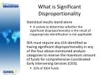 what is significant disproportionality2