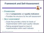 framework and self assessment