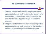 the summary statements