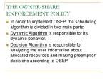 the owner share enforcement policy