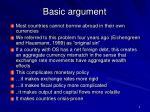 basic argument