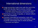international dimensions