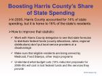 boosting harris county s share of state spending
