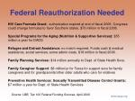 federal reauthorization needed