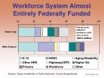 workforce system almost entirely federally funded