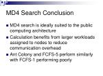 md4 search conclusion