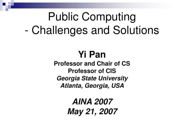 public computing challenges and solutions n.