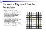 sequence alignment problem formulation
