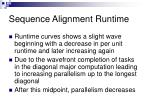 sequence alignment runtime1