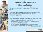 complete the fafsa electronically