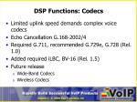 dsp functions codecs