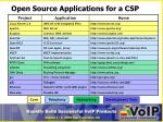 open source applications for a csp