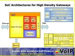 soc architectures for high density gateways