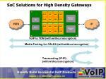 soc solutions for high density gateways