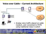voice over cable current architecture
