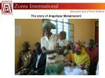 the story of angelique mukamusoni