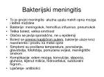 bakterijski meningitis