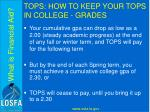 tops how to keep your tops in college grades1
