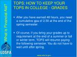 tops how to keep your tops in college grades2