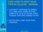 tops how to keep your tops in college grades3